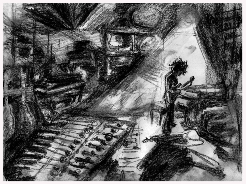 Pat Metheny  (Orchestrion project) promotional materials - charcoal