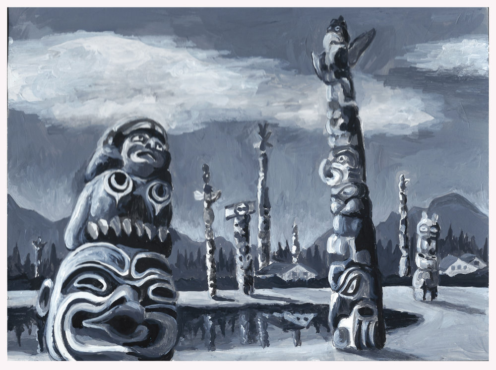 Totem Project- (concept development) Gouache