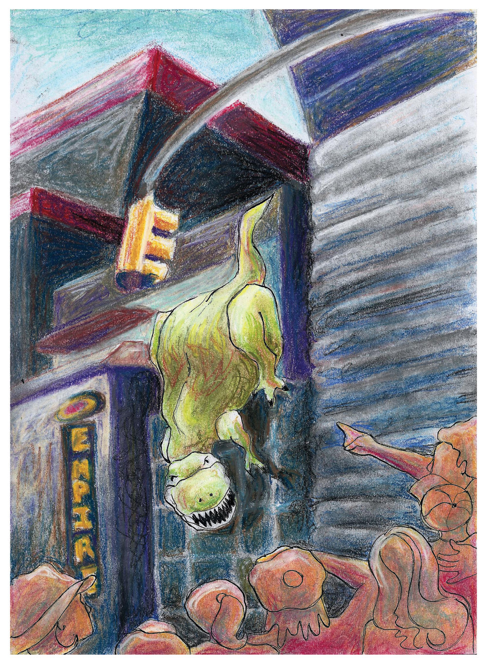 3D Cinema Dinosaur Project (concept development visuals) pastels