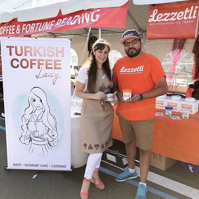 Visit @turkishfestival today in DC for a sneak peek at what's planned with our friends at @turkishcoffeelady this fall - enjoy Turkish coffee, get your fortune read, and try some ice cream too 🙂#dceats