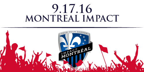 Away ticket for 9/17/16 vs Montreal Impact