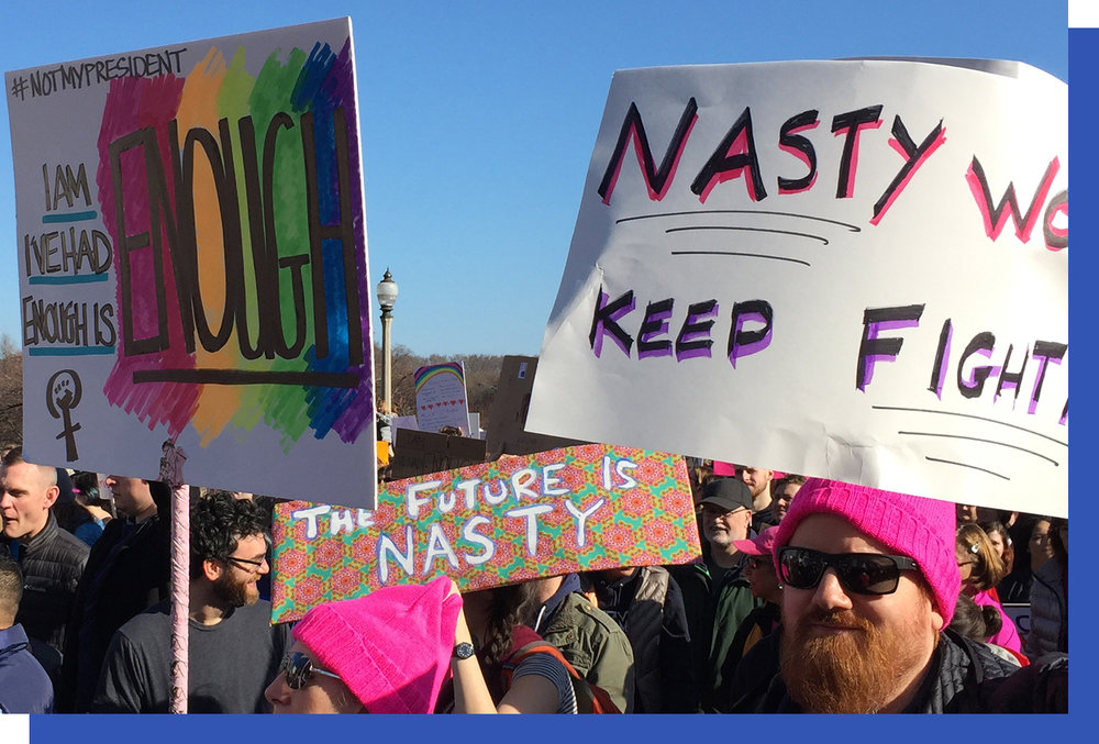 "Pink hats and abundant usage of the word ""nasty"""