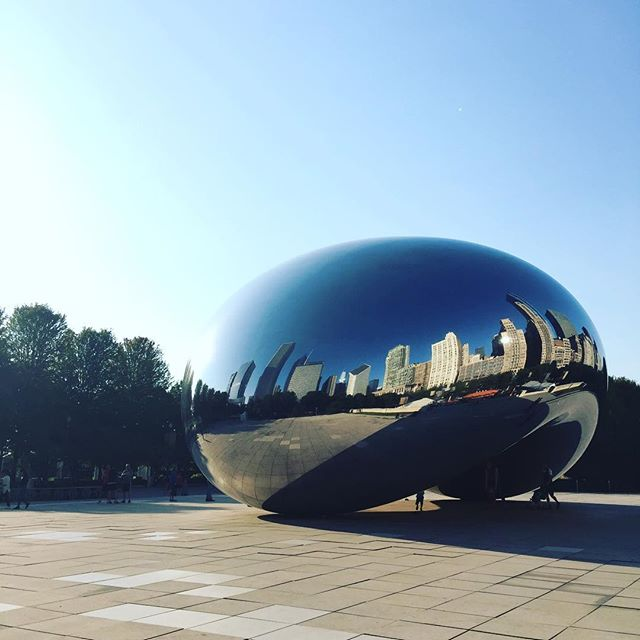 Looking at the design inspiration for @bnconf materials before the second day of the Brand New Conference. #touristinmycity #middleouest #midwest #design #branding #thebean #chicago