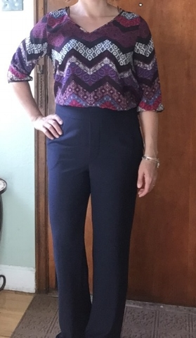 Some ridiculously high waisted pant for $98. It's like 12:30am, I'm not going to look it up. Hated these. They were a heavy polyester blend, didn't fit well and I can't stand high waist. Returned.