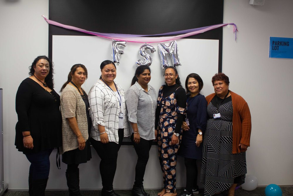 Candel, third from the right, and the FSM pamper day team.