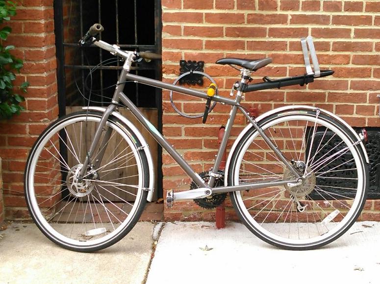 Home Bike Security, outside bike lock station in Baltimore.