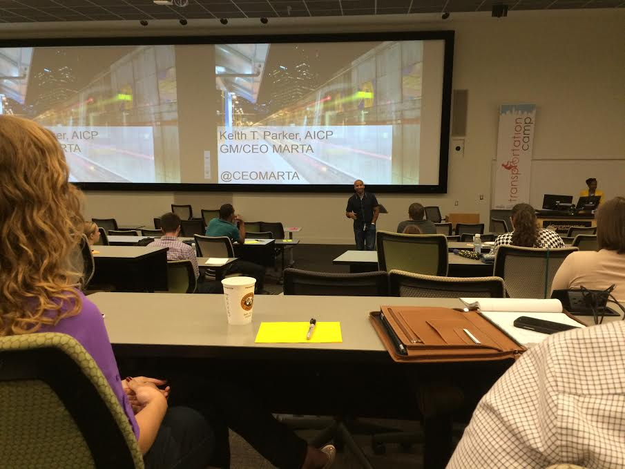 Keith Parker, GM/CEO of Marta, kicked off Transportation Camp with a speech to participants.