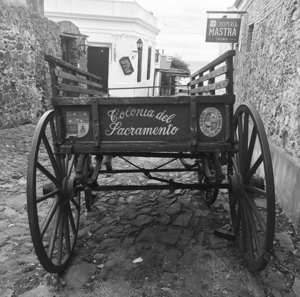 Carriages and cobblestones in Colonia, a UNESCO World Heritage Site.