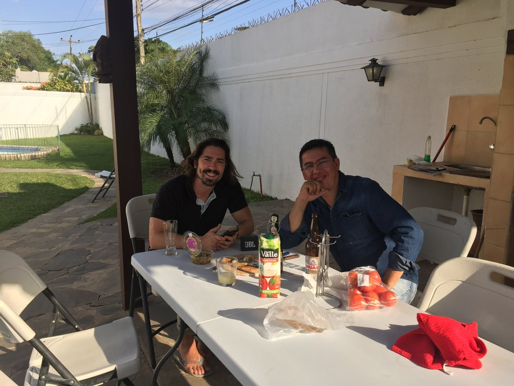 Pre-BBQ drinks and conversation with the one and only, Fernando.