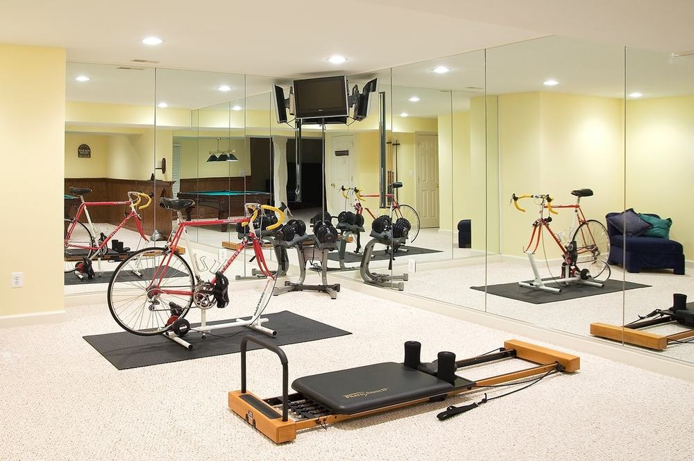 Basement exercise room frederick md