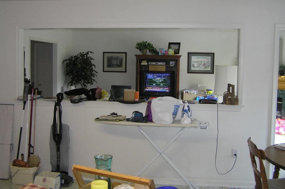 Living Room Pass Thru - BEFORE