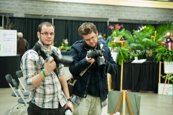 Alex (left) and me (right), about ten years ago at a local flower show.