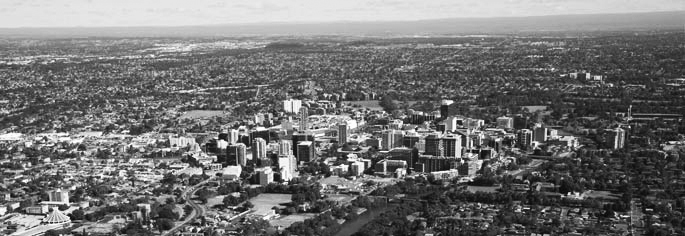 Aerial view of Parramatta