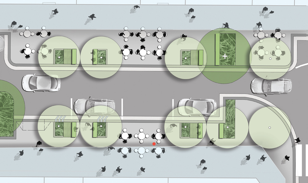 Plan view of Rowe Street detail