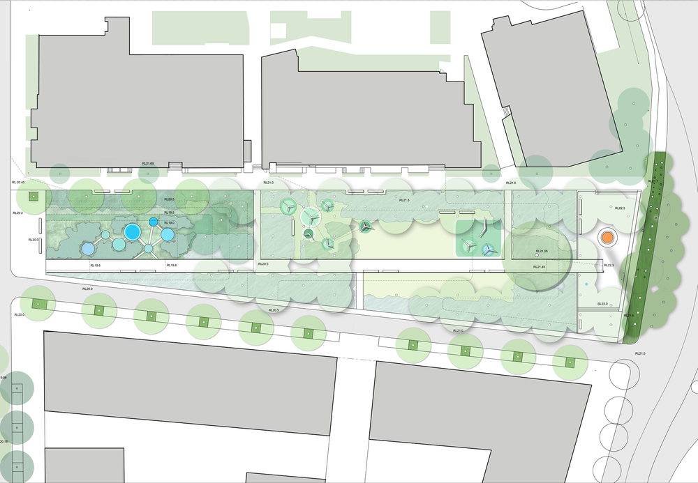 Plan of Zetland Ave Park