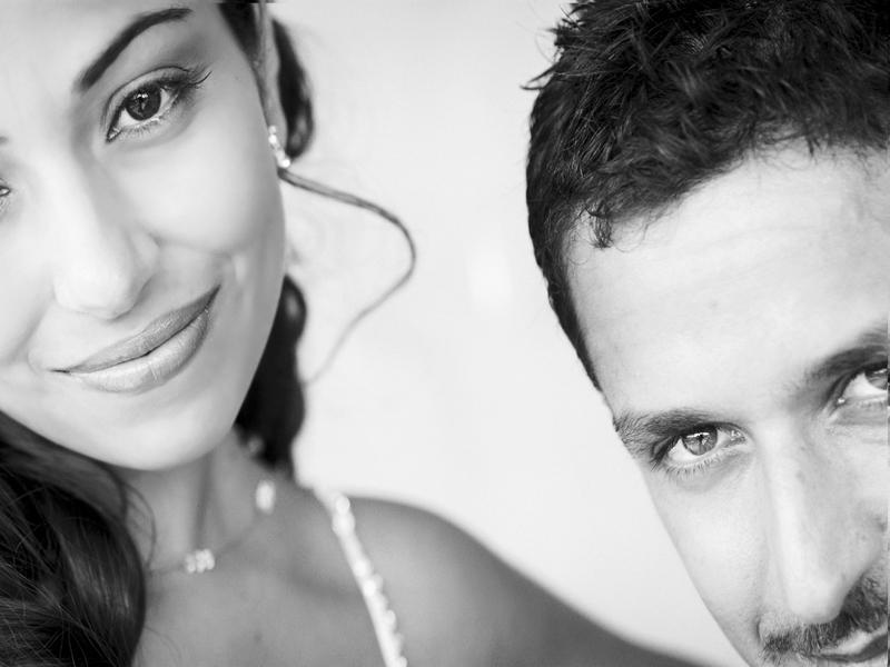 Great creative wedding photo of Bride and Groom