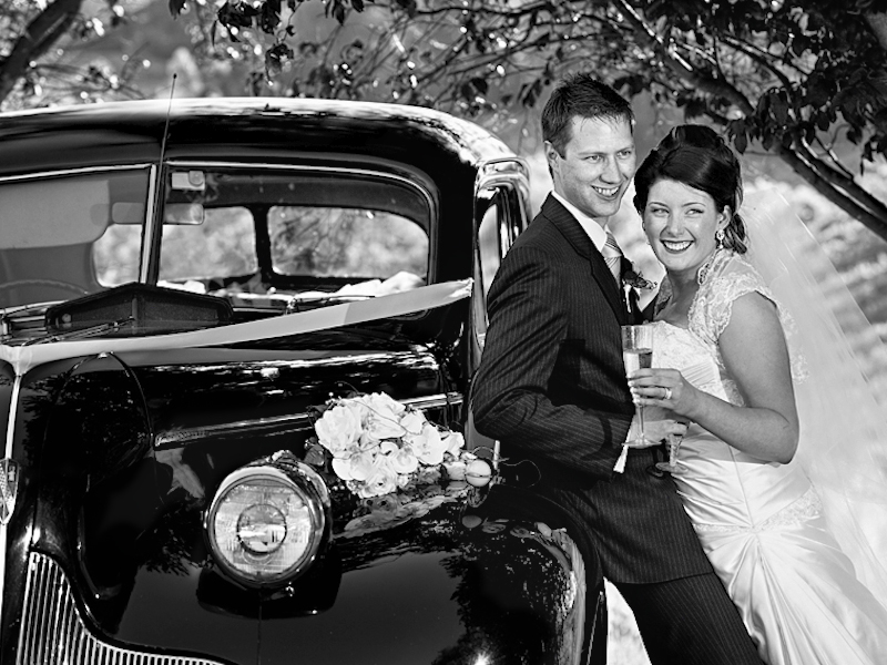 Classic cars for wedding photography