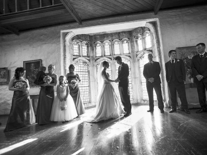 Wedding photo at Montsalvat