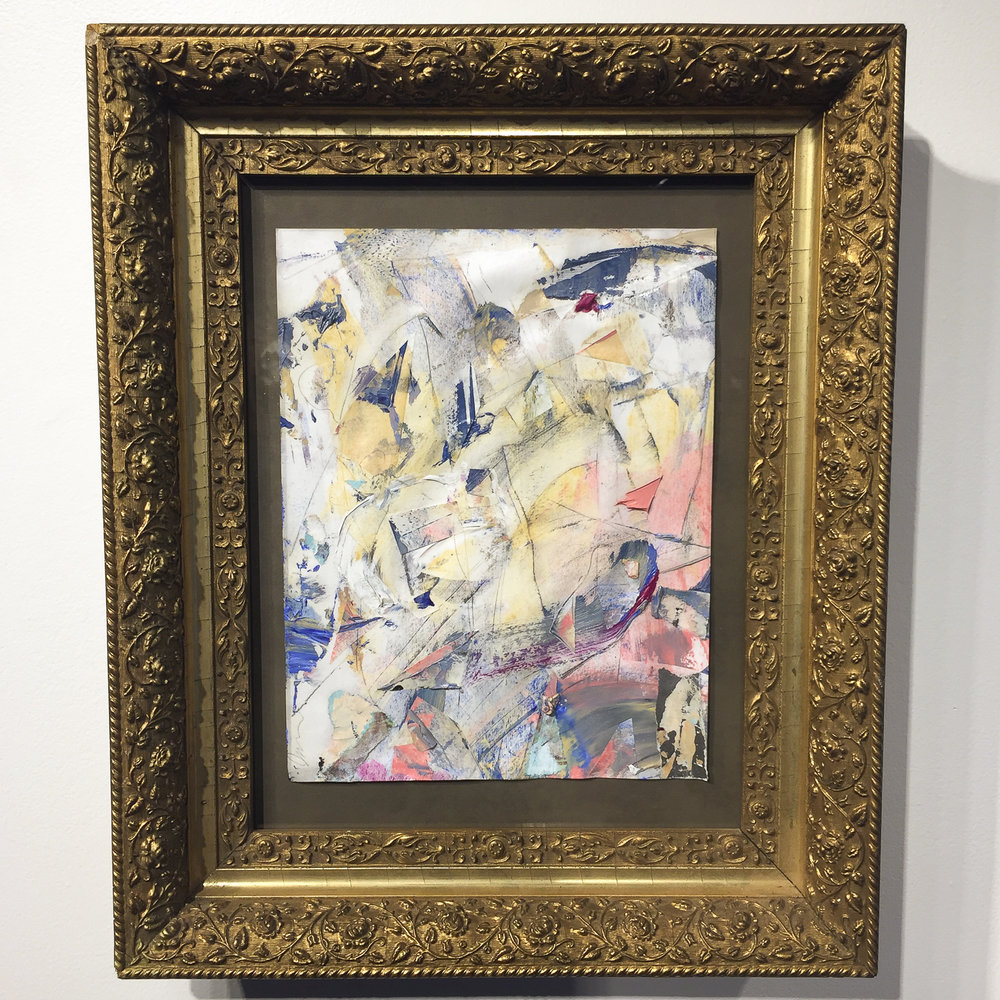 "Here is some food for thought for you this Friday from our current exhibiting artist Stephen T. Johnson.  ""Do not let failure or rejection stop you. It is simply part of the journey"" -Stephen T. Johnson-  Untitled, 2016 Oil on paper in antique gold leaf frame  by Stephen T. Johnson"