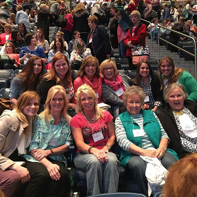 Spending time with good people, good fun, and good messages!! #blessed #mlsadventures #womensconference2016 #itallbeganwithdonanddonna @bonnabones @rissacrowther @athenaadair