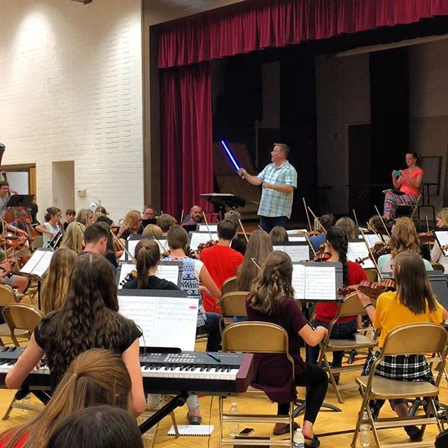 May the fourth be with you! Just some Star Wars fun at ZYSC rehearsal tonight!! #starwars #zysc #yesthatisalightsaber #davidisthecoolest