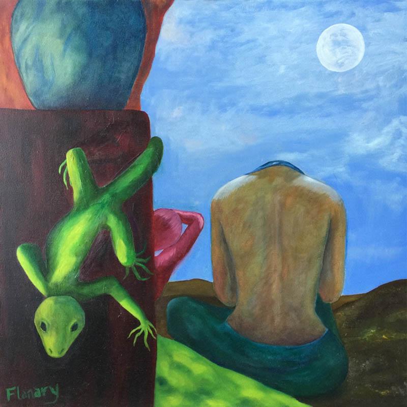 "Desert Meditation   Oil on Canvas  24"" x 24"" $895.00  2007"