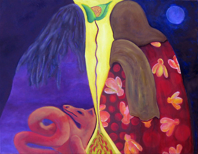 "Conjuring                                   Oil on Canvas                              28"" x 22""                                 $895.00                                     2013"