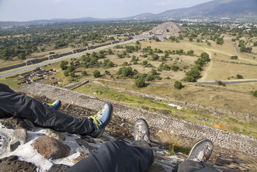 The two volcanos under our belts give us the confidence to tackle a few more high points in  Teotihuacán.