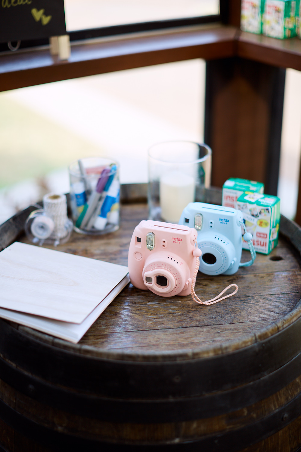 Instax instant Film Cameras at Estate Tuscany Pokolbin in the Hunter Valley by wedding photographer Joshua Witheford
