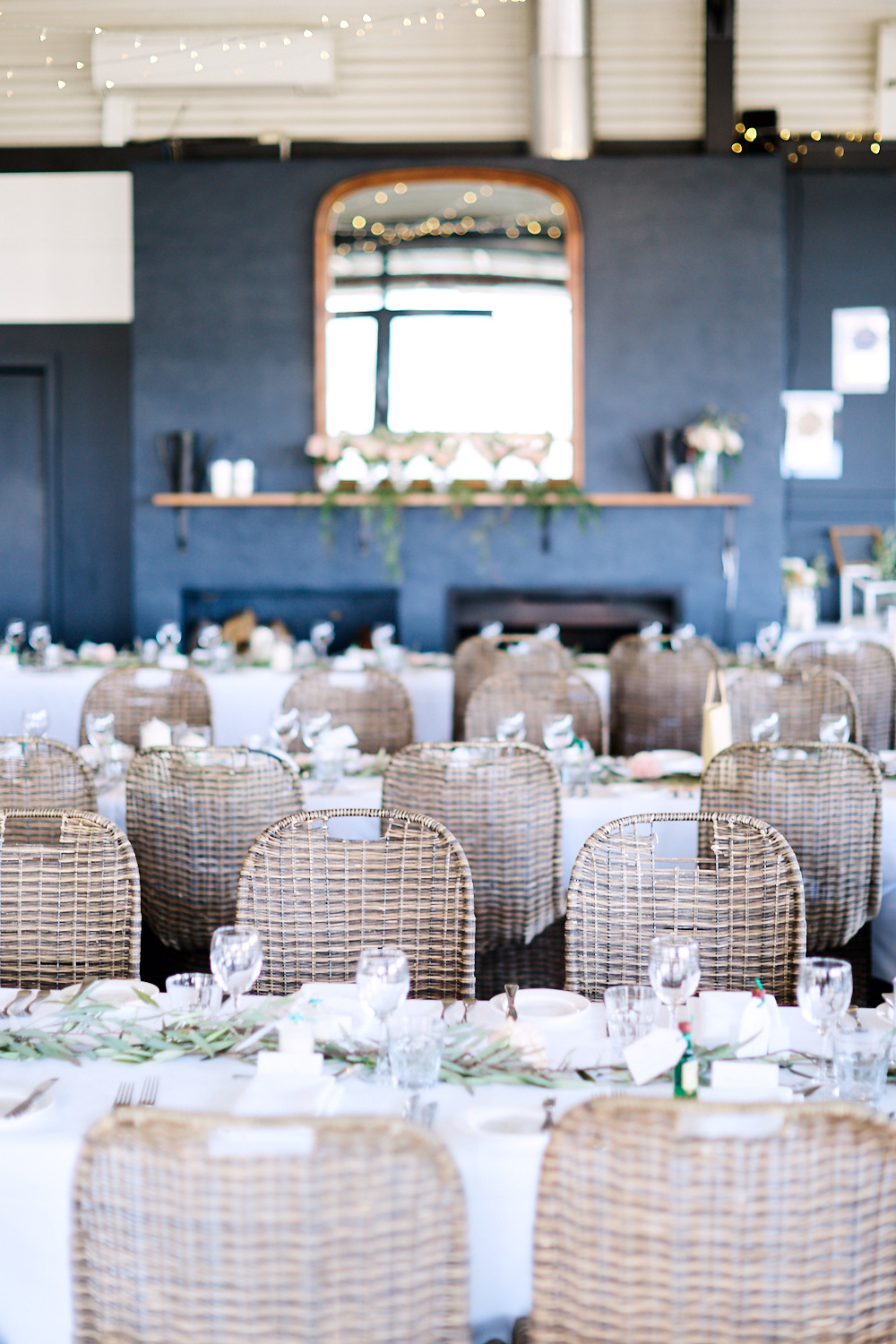 Reception Space decorated at Estate Tuscany Pokolbin in the Hunter Valley by wedding photographer Joshua Witheford
