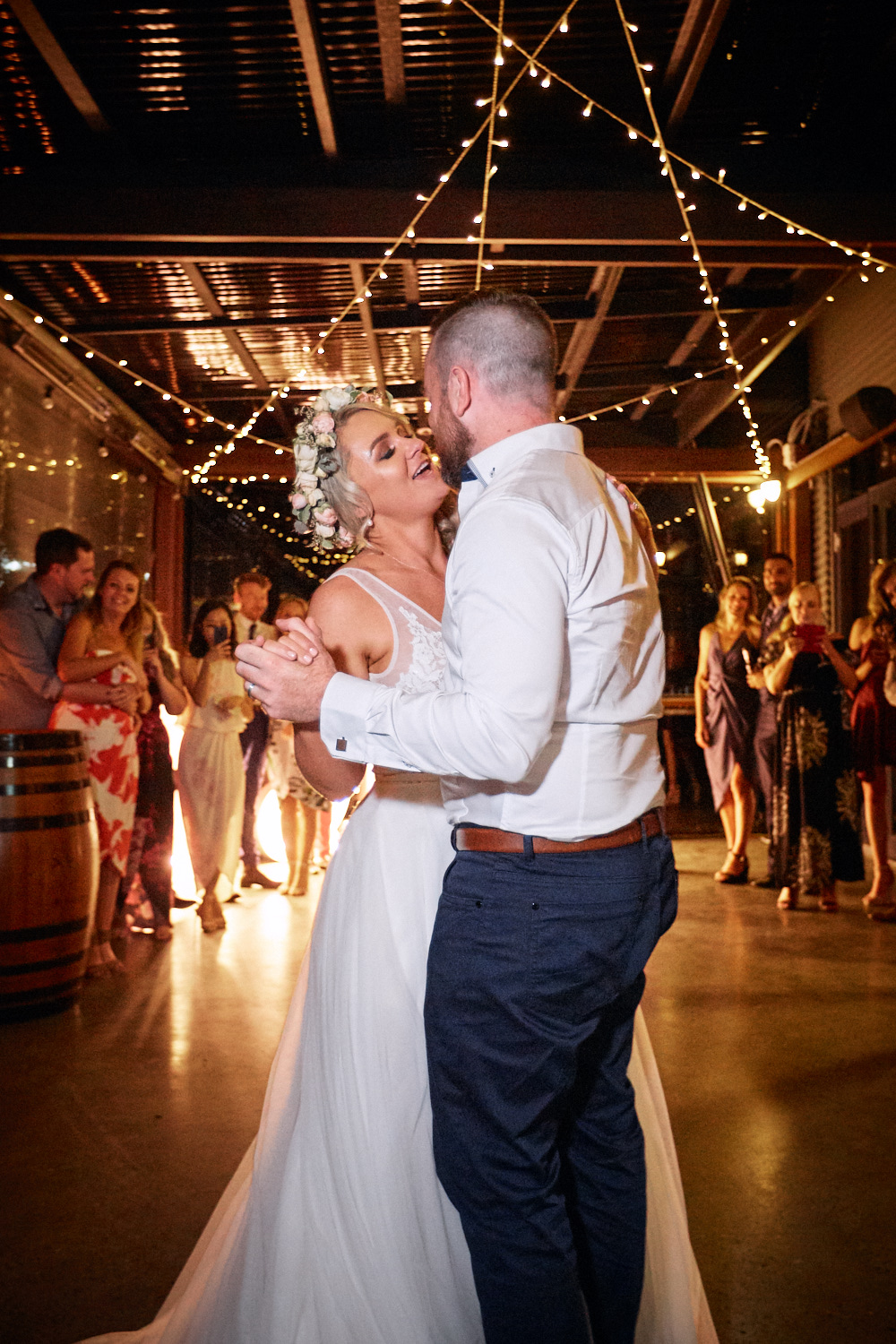 Bride and groom first dance at Estate Tuscany Pokolbin in the Hunter Valley by wedding photographer Joshua Witheford