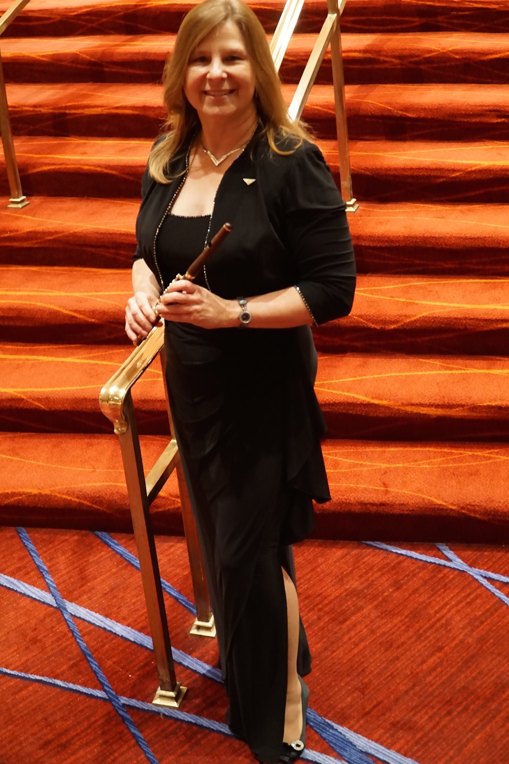 Lois Herbine after the closing ceremonies of the National Flute Association convention in Washington D.C, 2015, where she was a solo piccolo performer on John Williams,  The Patriot  and Sousa's  Stars and Stripes Forever  with the U.S. Army Field Band.