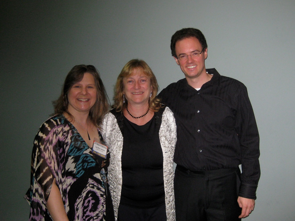 Piccoloist Lois Herbine, composer Cynthia Folio and pianist Matthew Bengtson after premiere in Charlotte, North Carolina on August 13, 2011