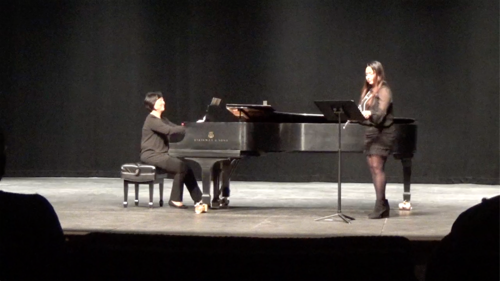 Student Anushka (11th grade) performing at West Chester University after placing first in the senior division of the Flute Society of Greater Philadelphia's Young Artist Competition, 2016.