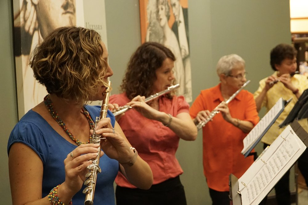Flutes and piccolo, Barnes and Noble Concert, 2017