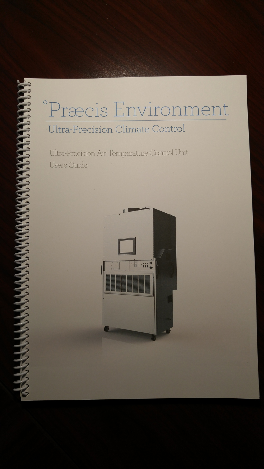 Praecis Ultra Precision Climate Control Manual