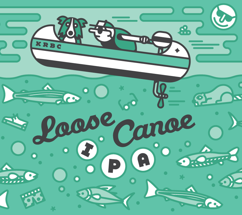 Loose Canoe IPA – 7.1%   Cut-loose and head upstream with our bubbly, golden IPA. It's richly hopped and the tasty citrus and resin aromas will get you where you need to go.