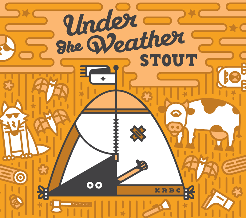 Under The Weather Stout - 6.1% Bunker-down and brave the storm with our smooth, dark ale. Whispers of chocolate, coffee and cream will keep you toasty and warm during the chilliest evenings.