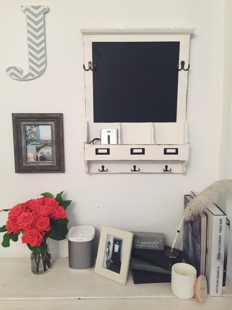 Chalkboard and Frames for Desk by The Blonde Vagabond.JPG