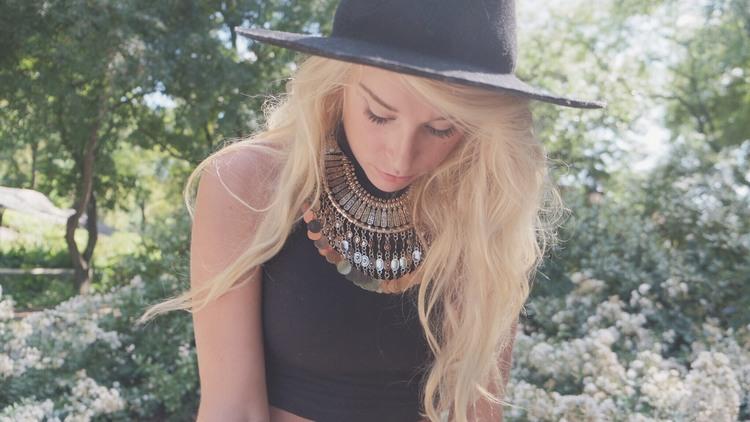 Large Brim Hat with Statement Necklace by The Blonde Vagabond:Jordyn Kraemer.JPG