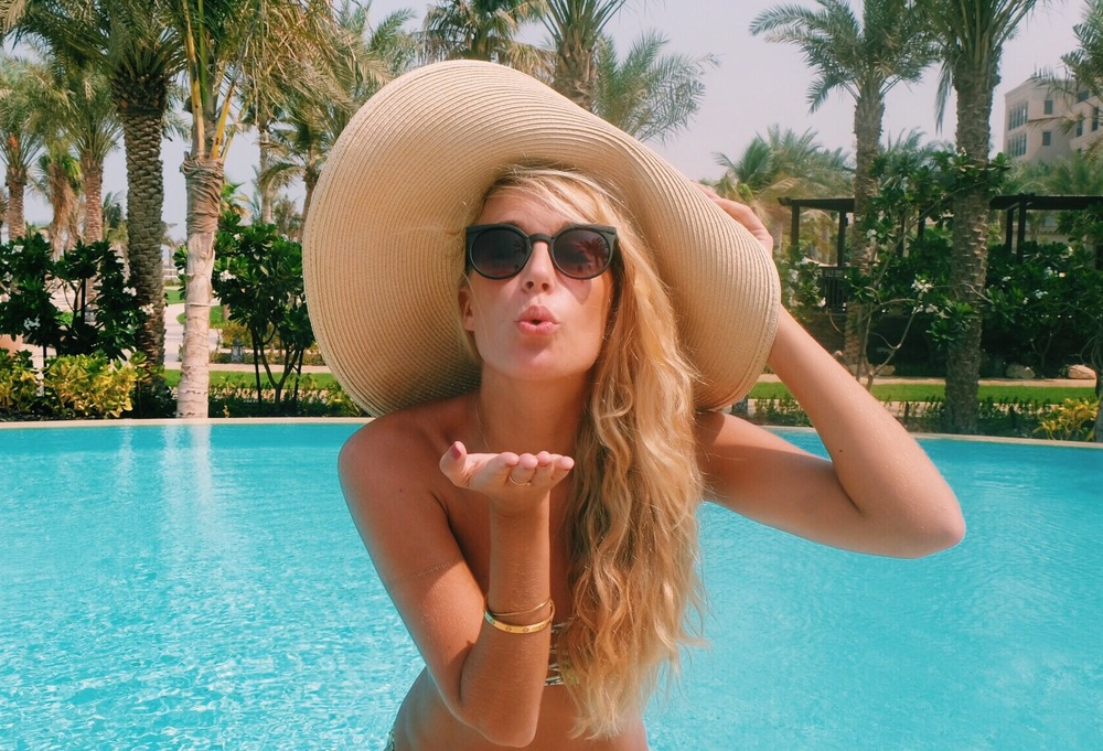 Pool at Four Seasons Jumeriah by The Blonde Vagabond.JPG