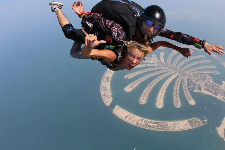Skydiving the Palm in Dubai by The Blonde Vagabond.JPG