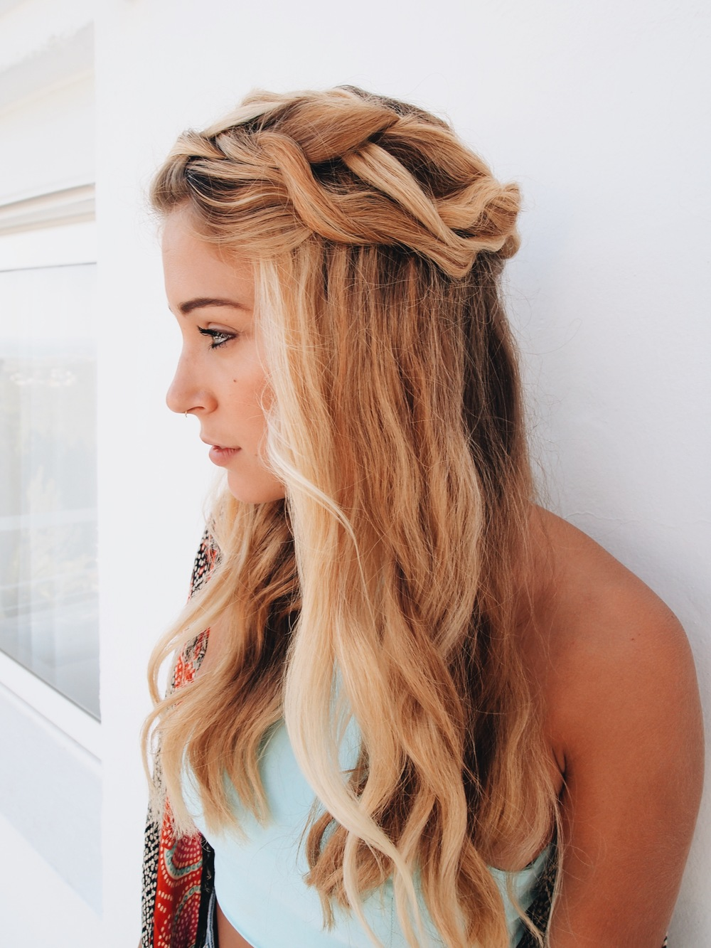 Loose Halo Braid by The Blonde Vagabond.JPG