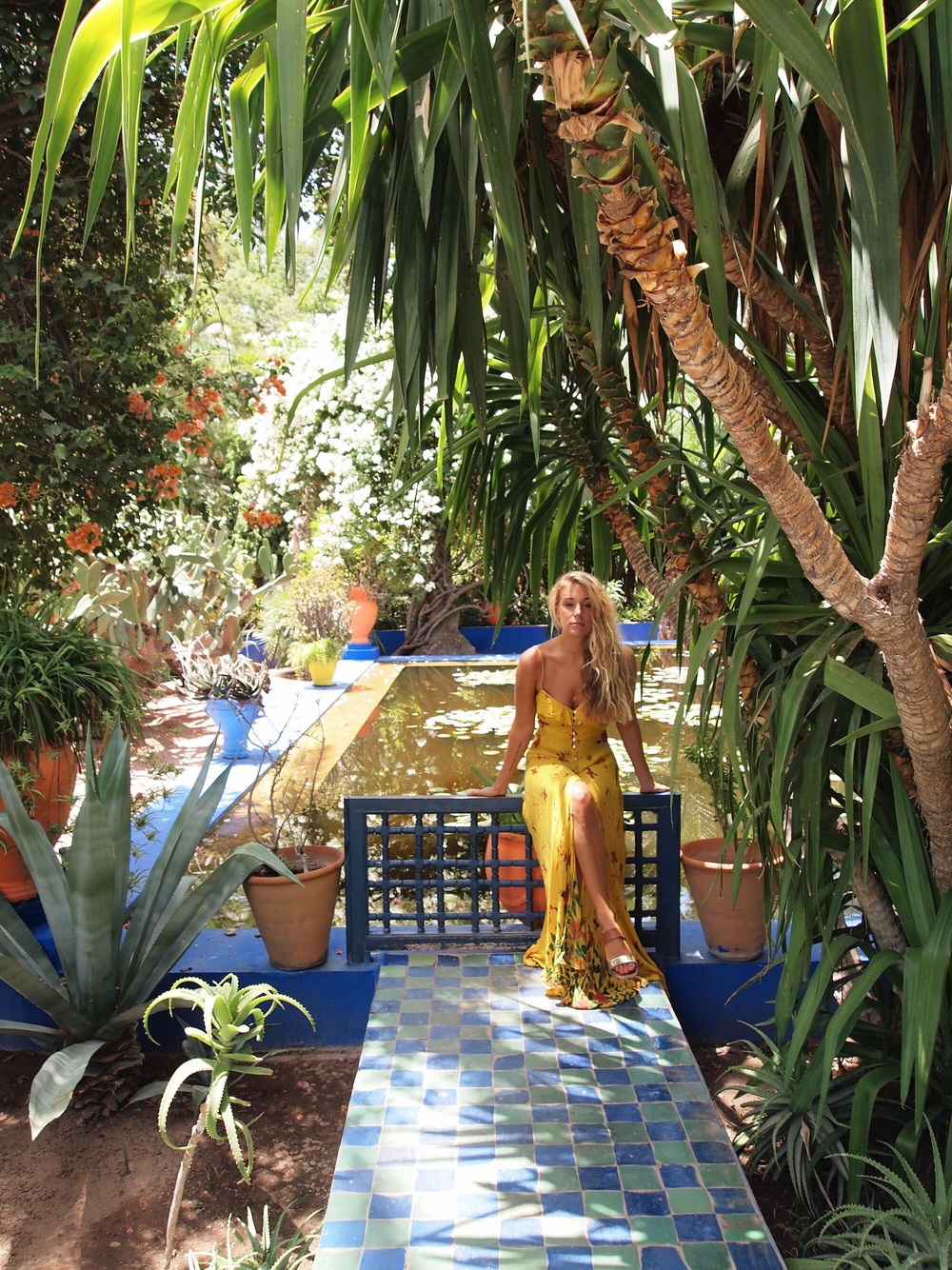 The Blonde Vagabond at Jardin Majorelle.JPG