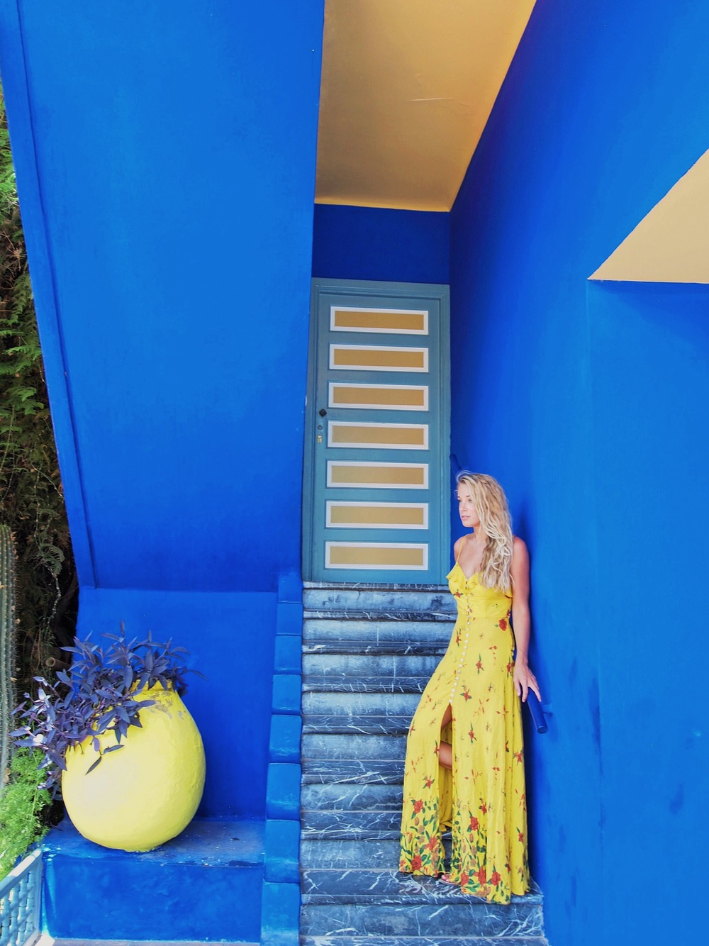 The Blonde Vagabond at Jardin Marjorelle.JPG