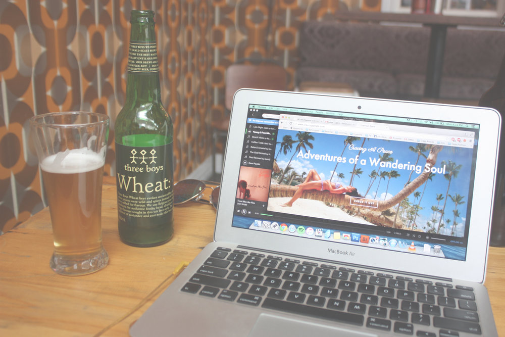 Rainy days were best spent chillin' at a local Wellington brewery sipping on a craft beer while giving my blog a much needed facelift.