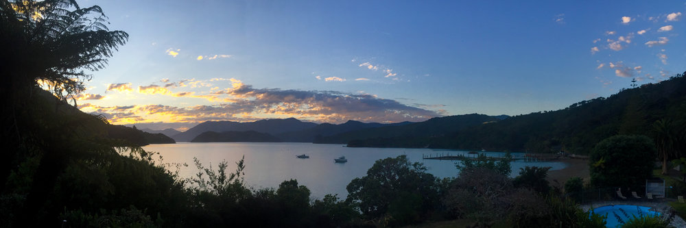 Sunsets of the Marlborough Sounds are a thing of beauty.