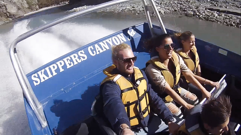 Skippers Canyon Jet with friends