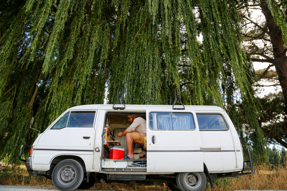 My friend, Nils, and his epic campervan that's taken him all around the South Island