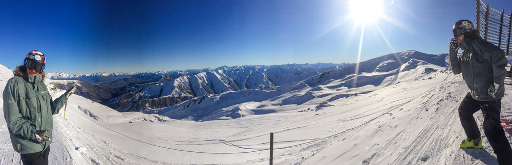 My friend Adam loving the snow on Cardrona from all angles